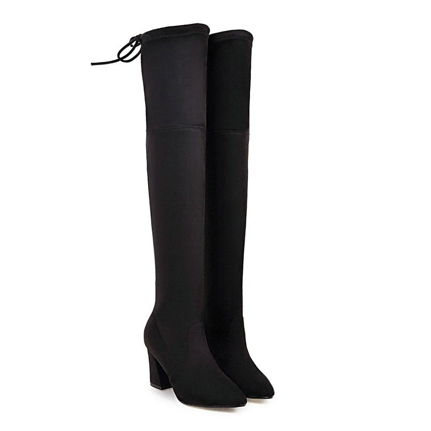 Women's Fashion Over The Knee Heel Boots