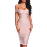 Club Dresses | Club Outfits | Party Dresses dresses, Off Shoulder Women Bandage Dress Knee Length Bodycon Party Dress - Clubbing Love