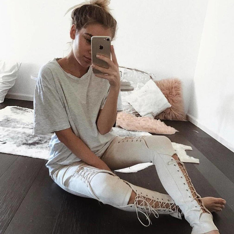 Club Dresses | Club Outfits | Party Dresses Lace-up suede leggings, Lace-up Suede Leggings - Clubbing Love