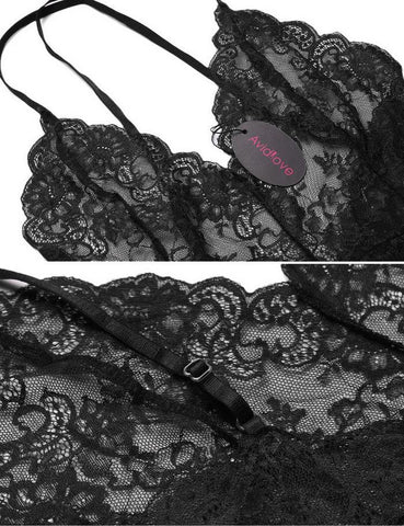 Club Dresses | Club Outfits | Party Dresses Bodysuit Lace Lingerie, Bodysuit Lace Lingerie Sexy Erotic Teddies Spaghetti Strap Lace Underwear Nightwear - Clubbing Love