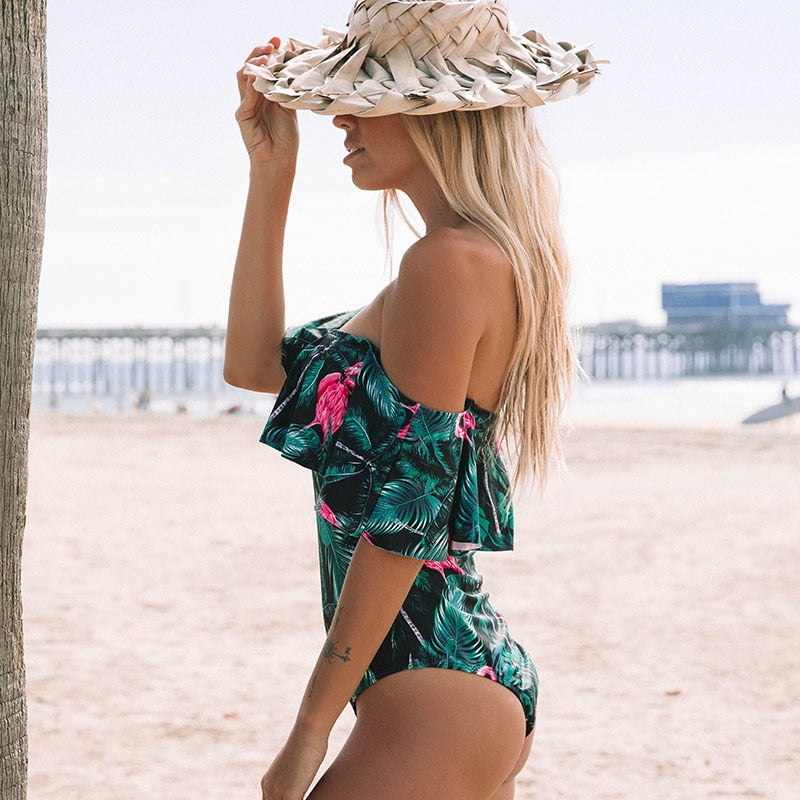 Club Dresses | Club Outfits | Party Dresses bikini, Sexy Women's Off Shoulder Monokini One Piece Swimsuit Bathing Suit Ruffle Monokini - Clubbing Love