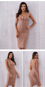 Club Dresses | Club Outfits | Party Dresses Dresses, Sexy Deep V-Neck Bodycon Club Celebrity Party Dresses - Clubbing Love