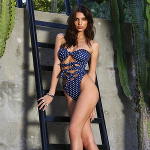 Club Dresses | Club Outfits | Party Dresses Bikini, Women One Piece High Neck V-Neckline Mesh Ruched Monokini Swimwear String Lace Embroidery - Clubbing Love