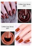 Club Dresses | Club Outfits | Party Dresses Nail Polish, Cappuccino Coffee Caramel Series Home Nail Gel Manicure - Clubbing Love