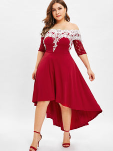 Club Dresses | Club Outfits | Party Dresses plus size, Women's Plus Size High Low Dress Women Dresses Fashion Spring Summer Half Sleeves Patchwork Dress - Clubbing Love