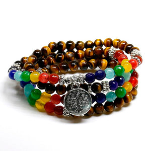 Club Dresses | Club Outfits | Party Dresses Tree Life 7 Chakra A Tiger Eye Beaded Bracelet Healing Natural Stones, 7 Chakra Tree Life Tiger Eye Beaded Bracelet Healing Natural Stones 🧘‍♀️🙏 BUY ONE FREE ONE - Clubbing Love