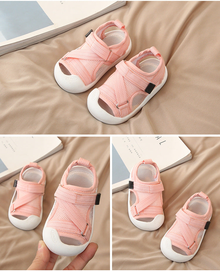 Club Dresses | Club Outfits | Party Dresses Summer Infant Toddler Shoes Baby Girls Boys Casual Shoes Non-Slip Breathable High Quality Kids Anti-collision Beach Shoes, 'Marley Play' Mesh Velcro Summer Sandals - Clubbing Love
