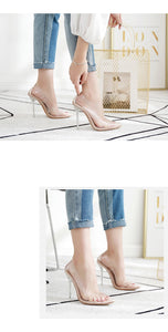 Club Dresses | Club Outfits | Party Dresses shoes, Transparent Pointed Toe Slip On Stiletto High Heel Pump Shoes Clubwear Partywear - Clubbing Love