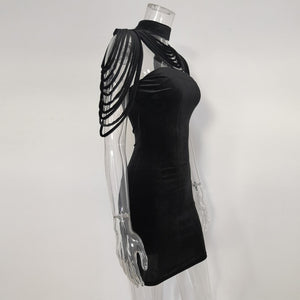 Club Dresses | Club Outfits | Party Dresses Dresses, Sexy Bandage Velvet Mini Dress - Clubbing Love