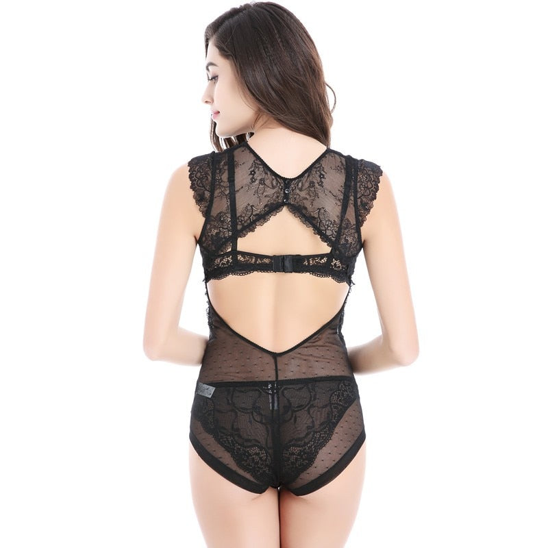 Club Dresses | Club Outfits | Party Dresses bodysuit, Women Clubwear Bodysuit Sexy Lace Elastic Slim Sleeveless Backless Bodysuit - Clubbing Love