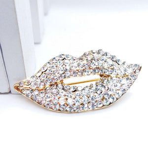 Club Dresses | Club Outfits | Party Dresses Under $9.99, Sexy Love Lips Brooch Pin Rhinestones Valentine's Day Hot Lips Rhinestone Brooch Pin - Clubbing Love