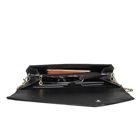 Image of Women's Classic Crocodile Pattern Faux Leather Clutch Evening Envelope Handbag