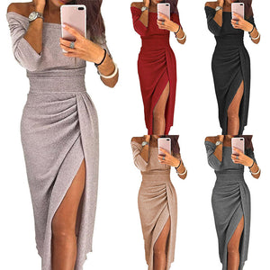 Club Dresses | Club Outfits | Party Dresses Dress, High Slit Party Sexy Dress Off Shoulder - Clubbing Love
