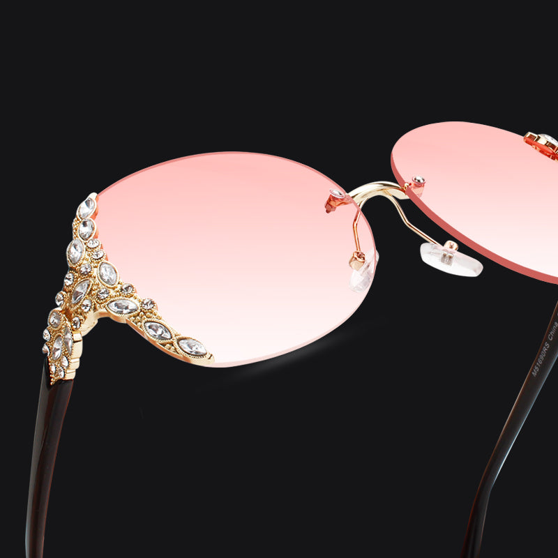 Club Dresses | Club Outfits | Party Dresses sunglasses, Women Diamond Over sized Shield Glasses Gradient Vintage Brand Designer Eyeglasses Frames Rimless Glass - Clubbing Love