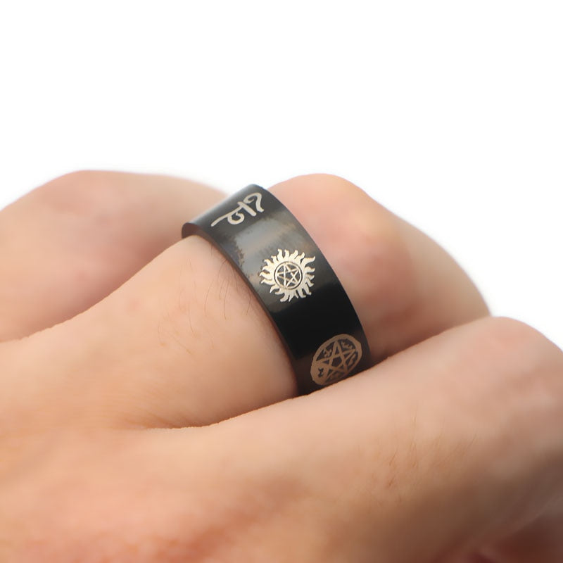 Club Dresses | Club Outfits | Party Dresses Supernatural stainless steel ring, Supernatural Stainless Steel Ring - Clubbing Love