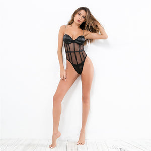 Club Dresses | Club Outfits | Party Dresses bodysuit, Women Clubwear Bodysuit Spaghetti Strap Sequin Metal Chain Sexy Perspective Chain - Clubbing Love