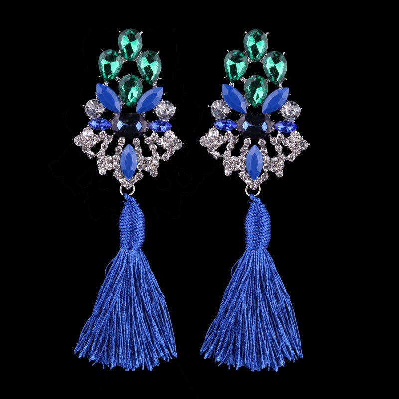Club Dresses | Club Outfits | Party Dresses Jewelry, Crystal Drop Earrings Women Long Tassel Drop Fringes Earrings Party Statement Jewelry Earrings - Clubbing Love