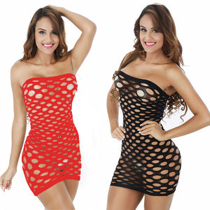 Club Dresses | Club Outfits | Party Dresses Lingerie, Best Selling Women's Elasticity Sex Costumes Mesh Lingerie Fishnet Babydoll Mini Dress Free Size Bodysuit - Clubbing Love