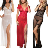 Club Dresses | Club Outfits | Party Dresses Lingerie, Lingerie for Women Sexy Long Lace Dress Sheer Gown See Through Kimono Robe - Clubbing Love