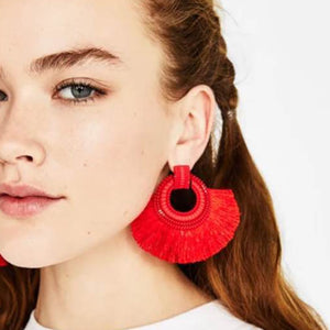 Club Dresses | Club Outfits | Party Dresses Jewelry, Colorful Hoop Statement Tassel Earrings for Women - Clubbing Love