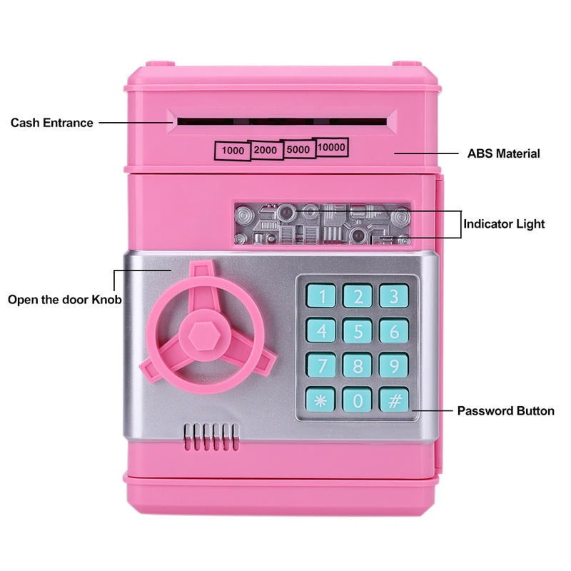 Club Dresses | Club Outfits | Party Dresses Electronic Piggy Bank Safe Money Box for Children, Electronic Piggy Banks Mini ATM Electronic Coin Bank Coin Box - Clubbing Love
