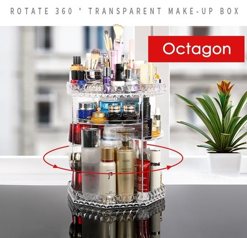 Club Dresses | Club Outfits | Party Dresses Makeup Organizer 360-Degree Rotating Adjustable Multi-Function Acrylic Cosmetic Storage, Makeup Organizer 360-Degree Rotating Adjustable Multi-Function Acrylic Cosmetic Storage - Clubbing Love