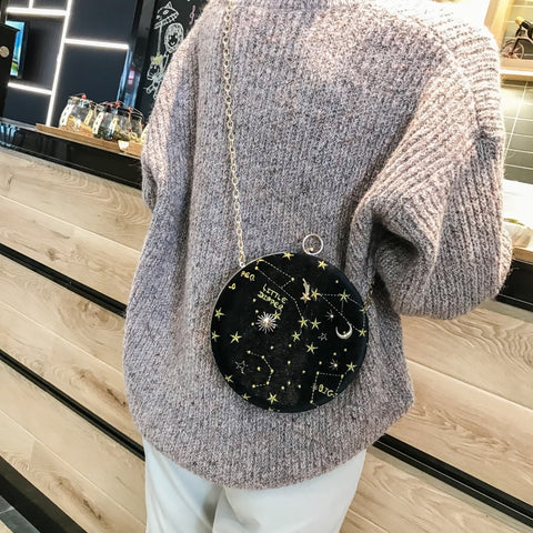 Image of Starry Sky Circular Shoulder Chain Bag