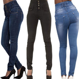 Club Dresses | Club Outfits | Party Dresses Jeans, Women's High Waist Boyfriend Straight Leg Skinny Pants Chic Slim Fit Pencil Jeans Ladies Comfy Stretchy Denim Trousers - Clubbing Love