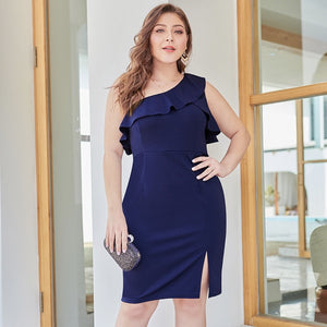 Club Dresses | Club Outfits | Party Dresses Plus Size, Plus Size One Shoulder Formal Dress Bodycon Spring Summer Dress Off Shoulder Evening Gowns - Clubbing Love