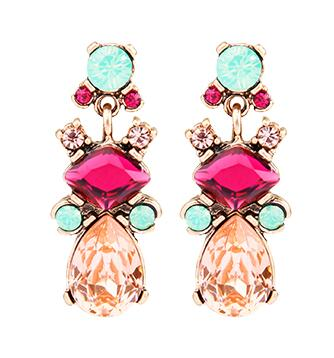 Club Dresses | Club Outfits | Party Dresses Under $9.99, Simple Earrings Vintage Glass Crystal Flowers Leaves Earrings for Women Party Jewelry - Clubbing Love
