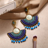 Club Dresses | Club Outfits | Party Dresses Under $9.99, Vintage Bohemian Beads Earrings for Women Flower Pendant Dangle Drop Earrings - Clubbing Love