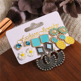 Club Dresses | Club Outfits | Party Dresses Under $9.99, 6 Pairs Stud Earrings Mixed Design Modern Style and Bohemia Retro Vintage Style Sets Card pack - Clubbing Love