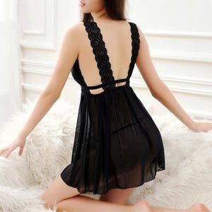 Club Dresses | Club Outfits | Party Dresses lingerie, Sexy Women Babydoll Lace Casual Sleepwear Mini Nightgown Seamless Lingerie Night Dress - Clubbing Love
