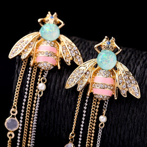Club Dresses | Club Outfits | Party Dresses Exquisite crystal bee earrings, EXQUISITE CRYSTAL BEE EARRINGS 🐝 - Clubbing Love