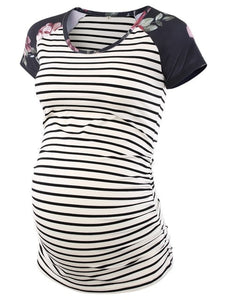 Club Dresses | Club Outfits | Party Dresses Maternity, Women's Baseball Crew Neck Raglan Sleeve Side Ruched Maternity T Shirts Top Pregnancy Shirt Womens Maternity Classic Side Ruched T-Shirt Tops Mama Pregnancy Clothes - Clubbing Love