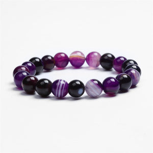 Club Dresses | Club Outfits | Party Dresses Natural Stone Love Purple Bead Bracelet, Handmade Love Purple Semi Precious Gemstone - Clubbing Love