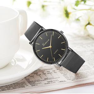 Club Dresses | Club Outfits | Party Dresses watches, Black Quartz Watch Women Mesh Stainless Steel Watchband Casual Wristwatch - Clubbing Love