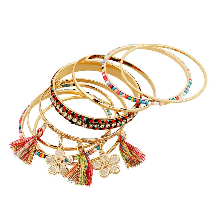 Club Dresses | Club Outfits | Party Dresses Under $9.99, Stackable Bangle Bracelet Set Multi Color Bangles - Bohemian Gypsy Jewelry - Clubbing Love