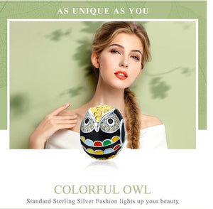 Wise as Owls 925 Sterling Silver Gold Plated Animal Lovers Charms, Multi color Enamel Bead well for Necklaces Jewelry - Club Dresses | Party Dresses | Club Outfits. Club Dresses from ClubbingLove.com