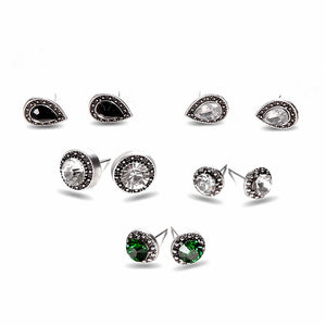 Club Dresses | Club Outfits | Party Dresses Under $9.99, 5 Pairs Stud Earring Pack Sets With Card Bohemian Vintage Women'S Girl's Assorted Multiple Stud Earring - Clubbing Love