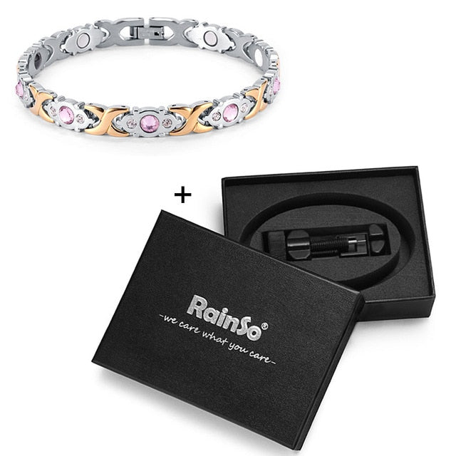 Club Dresses | Club Outfits | Party Dresses Crystal Stainless Steel Magnetic Hologram Charm Bracelet, Crystal Stainless Steel Magnetic Hologram Charm Bracelet - Clubbing Love