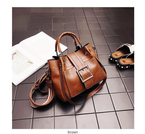 New Fashion PU Leather Handbags Crossbody Bag For Women Vintage Bucket Shoulder Bag Ladies Handbag Sac Femme