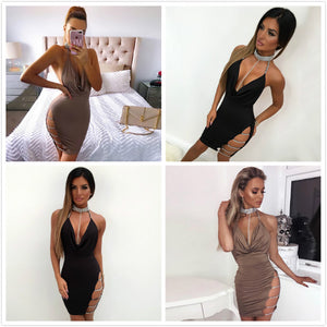 New Sexy Bandage Women Party Dress Fashion Chain Backless Dress Women Evening Club wear Elegant Lady Vestidos - Club Dresses | Party Dresses | Club Outfits. Club Dresses from ClubbingLove.com
