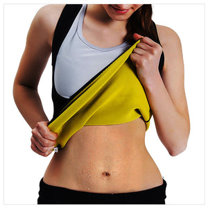 Women's Body Shaper Hot Sweat Workout Tank Top Slimming Vest Tummy Fat Burner Neoprene Shapewear for Weight Loss, No Zipper, Black/Yellow - Club Dresses | Party Dresses | Club Outfits. Club Dresses from ClubbingLove.com