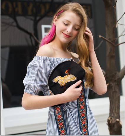 Club Dresses | Club Outfits | Party Dresses Bags, Mini Velvet Embroidery Crane Shell Bag Wild Strap Fashion Shoulder Bags Designer Tassel Vintage Crossbody Bag - Clubbing Love