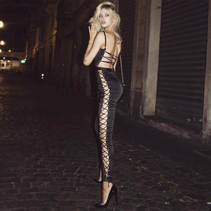 New Sexy Women Jumpsuit Bandage Lace Up Rompers Club Wear Backless Fashion Lady Overalls Macacao Jeminino Hot Sale - Club Dresses | Party Dresses | Club Outfits. Club Dresses from ClubbingLove.com
