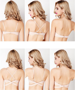 Club Dresses | Club Outfits | Party Dresses Lingerie, Women Deep U Sexy Backless Bra Lingerie Ultra low cut Underwear Brassiere Push Up Bras For Women Intimates Bralette - Clubbing Love