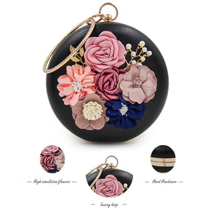 Women Evening Clutches Bags Ladies Flower Wedding Bag Day Purse Female Party Clutch