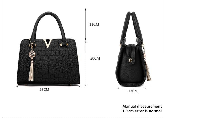 Crocodile Leather Women Bag V letters Designer Handbags Luxury quality Lady Shoulder Crossbody Bags fringed women Messenger Bag - Club Dresses | Party Dresses | Club Outfits. Club Dresses from ClubbingLove.com