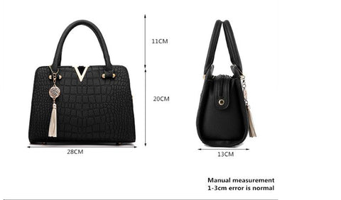 Image of Crocodile Leather Women Bag V letters Designer Handbags Luxury quality Lady Shoulder Crossbody Bags fringed women Messenger Bag - Club Dresses | Party Dresses | Club Outfits. Club Dresses from ClubbingLove.com